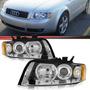 Farol Audi A4 2001 2002 2003 2004 Máscara Cromada Par