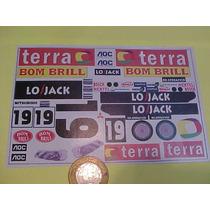 Autorama Adesivo Stock Car Terra P/ Carroceria Carro Bolha