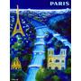 Cartaz Poster Vintage Paris Torre Eiffel França Cidade Luz