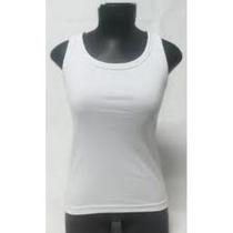 Camiseta Regata Nadador Branca 100% Poliester - Atacado