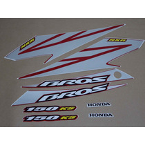 Kit Adesivos Honda Nxr150 Ks Bros 2008 Vermelha - Decalx