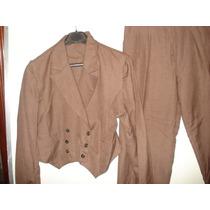 Jaqueta Tipo Spencer Com Calça Em Lãzinha Tam P
