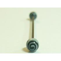 Piercing Transversal Haste Em Aço Cirurgico 316l