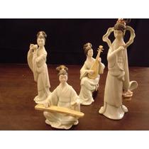 Bibelos - Grupo De 04 Peças Em Porcelana Chinesa Antigas