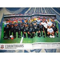 Poster Placar Corinthians Campeão Paulista 2003