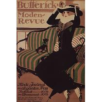 Mulher Cachorro Animal Sofa Chapéu Poster Repro
