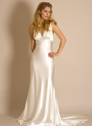 Vestido cetim nobre grego noiva madrinha debutante festa for Wedding dress 30s style