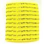 Identificador De Cabos - Anilhas Letras A Ao Z - Kit 520 Pçs