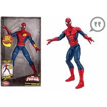 Boneco Spider Man Fala 15 Frases Atira Teias Disney Store