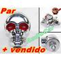 Parafuso De Placa Mod. Caveira - Moto Custom Carro Camioneta