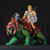 He Man E Gato Guerreiro - He Man & Battle Cat - Motuc Mattel