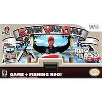 Kevin Van Dam Big Bass Challenge Com Vara De Pesca Para Wii