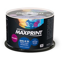 50 Dl + R Maxiprint. Umedisc ( Printable) Para Xbox 8,5gb