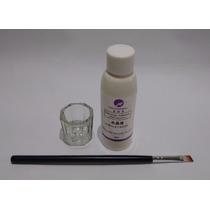 Líquido Acrílico Monomer 50ml +dappen Vidro Pincel Porcelana