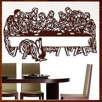 Quadro Decorativo Santa Ceia Escultura Parede Madeira Vazada