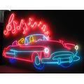 Placas Decorativas Em Neon Vintage Retrô Sob Encomenda