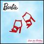 Sapato Para Barbie * Sandália Vermelha * Moderna * Com Salto