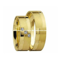 Par Alianças 14 Grs Ouro 18k 750 Diamantes Frete Nota Fiscal