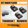 Kit Radio Flash Trigger 16 Canais Wireless C/sup P/sombrinha