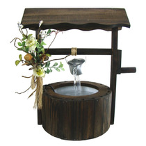 Fonte De Água Madeira Rústica Lembranças Do Campo- Feng Shui