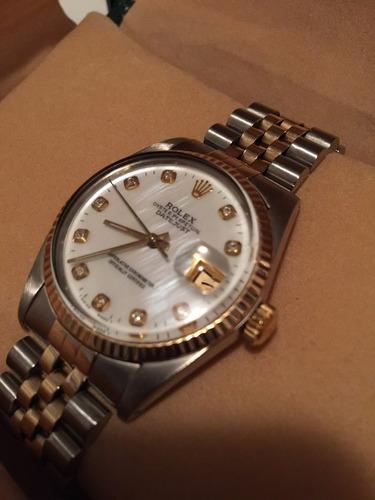ff796b9a841 Rolex 36mm Misto Aço E Ouro - Diamantes - Impecavel. R  42500