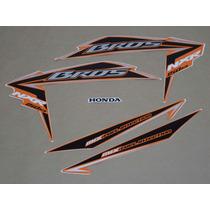 Kit Adesivos Honda Nxr150 Ks Mix Bros 2010 Laranja - Decalx