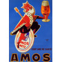 Rei Coroa Cerveja Amos King Vintage Frances Poster Repro