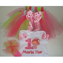 Fantasia Moranguinho Baby Tutu Personalizada Completa