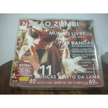 Cd Nação Zumbi+mundo Livre+8 Bandas De Pernambuco
