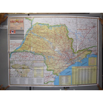 Mapa Geo Político São Paulo Rodoviário Gigante - 1,20 X 0,90
