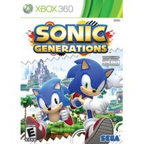 Jogo Xbox 360 Sonic Generations Xbox360 Lacrado De Fabrica