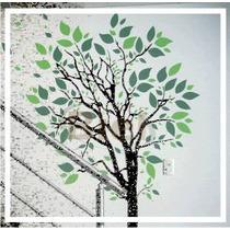 Adesivo De Parede Árvore Com 2 Medidas + De 500 Folhas