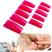 Kit Com 500 Unhas Pink Acrilicas Postiças- 10 Tamanho