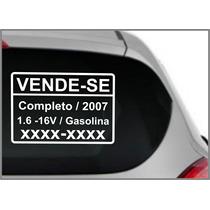 Conjunto De 02 Adesivos Vende-se (30x21)cm Cada