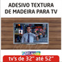 Adesivo De Parede Painel Tv Lcd Led Textura Madeira Rln123