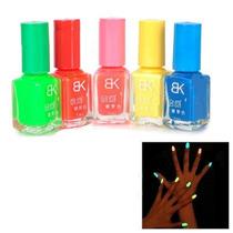 Esmaltes Neon Importados Brilham No Escuro 5 Cores Disponive
