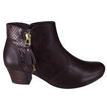 Bota Feminina Comfortflex 1699302 Soft Ankle Boot Original