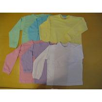 Kit Com 2 Camisetas Para Crianças Tam. 2, 4 E 6. 100% Alg.