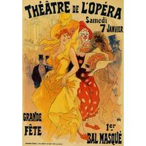 Teatro De Opera Musical Mulher Palhaço Flores Poster Repro