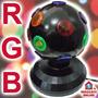 Mini Bola Maluca Led Rgb. Globo Projetor Giratório Rotativo