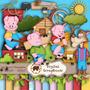 Kit Scrapbook Digital - Os Três Porquinhos