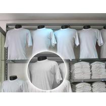 Kit Com 5 Camiseta Lisa Branca Fio 30.1 100% Algodão