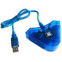 Adaptador Duplo Controle Play 2 Ps2 P/ Ps3 Pc 3 Usb Converso
