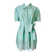 Vestido Verde Água Em Laise Leze Lesie - Lindo!!!