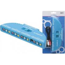 Chave Seletora Audio E Video 4x1 Rca Tv Xbox Ps2 Ps3 Wii