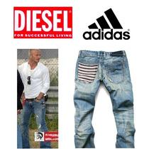 Calça Jeans Adidas Marca Famosa Jogador Famoso Luxo Importad