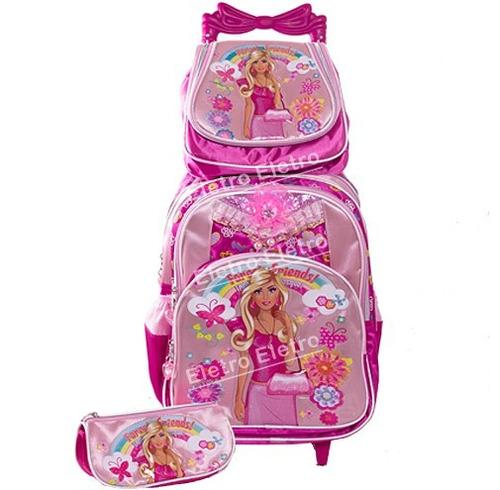 Bolsa Escolar Feminina Da Frozen : Kit mochila escolar infantil feminina com rodinhas r