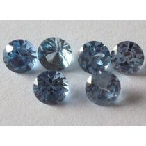 Frete Grátis! Topázio Azul Swiss 5mm! 2 Pedras.