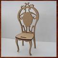 Cadeira Colonial Miniatura Mdf 3d Decoração 15 Cm