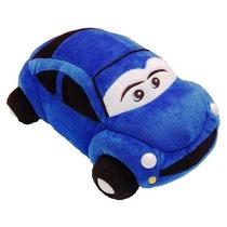 Almofada Pelúcia Carro Azul 18 X 33 Cm Lavável Antialérgico